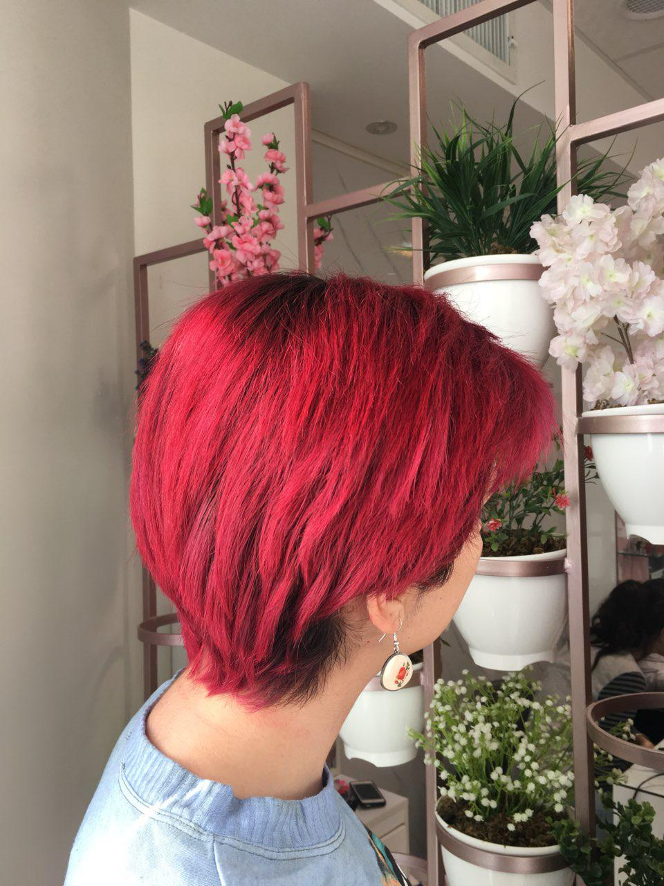 رنگ مو قرمز فانتزی